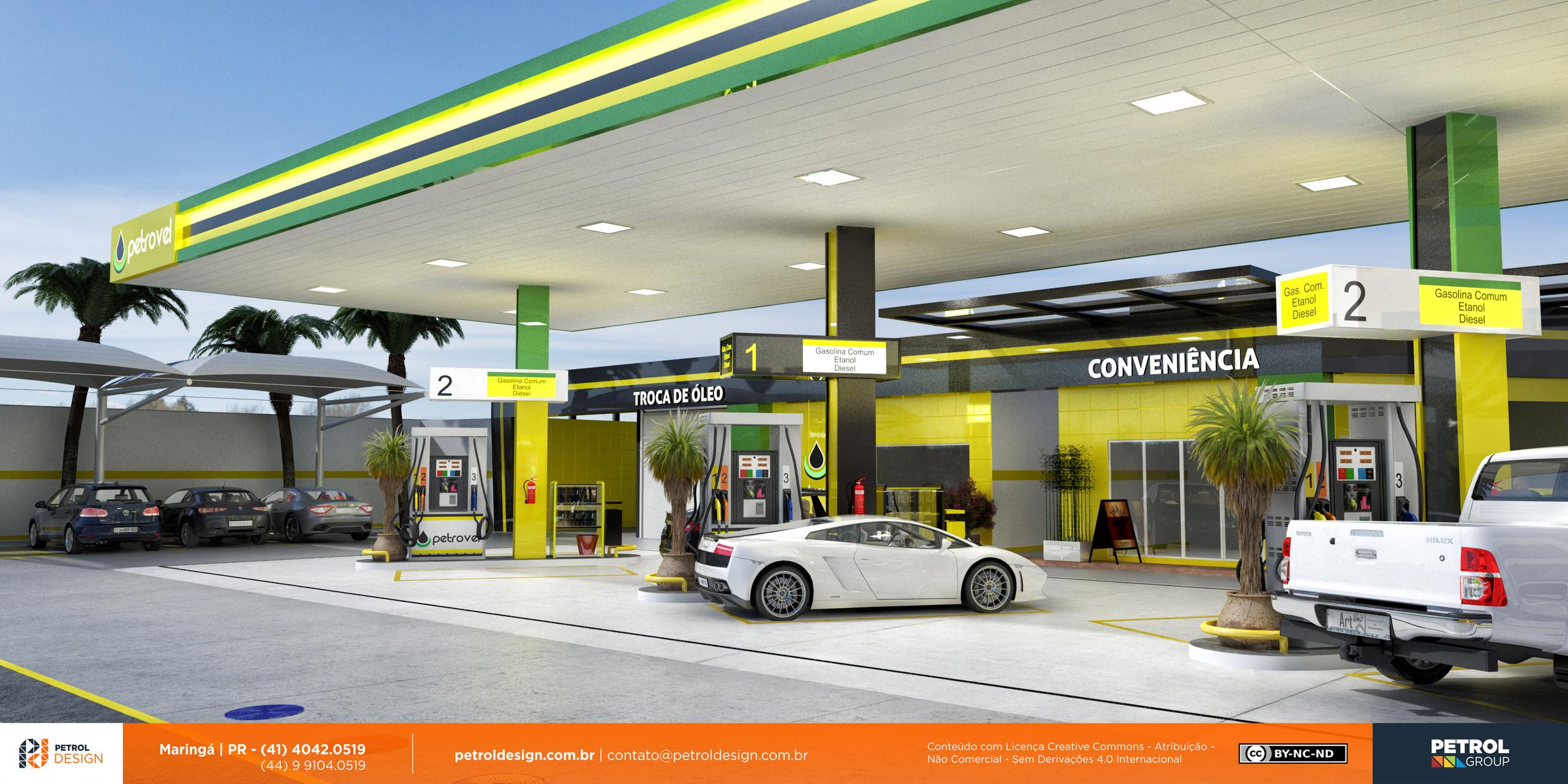 projeto posto de gasolina Janauba MG