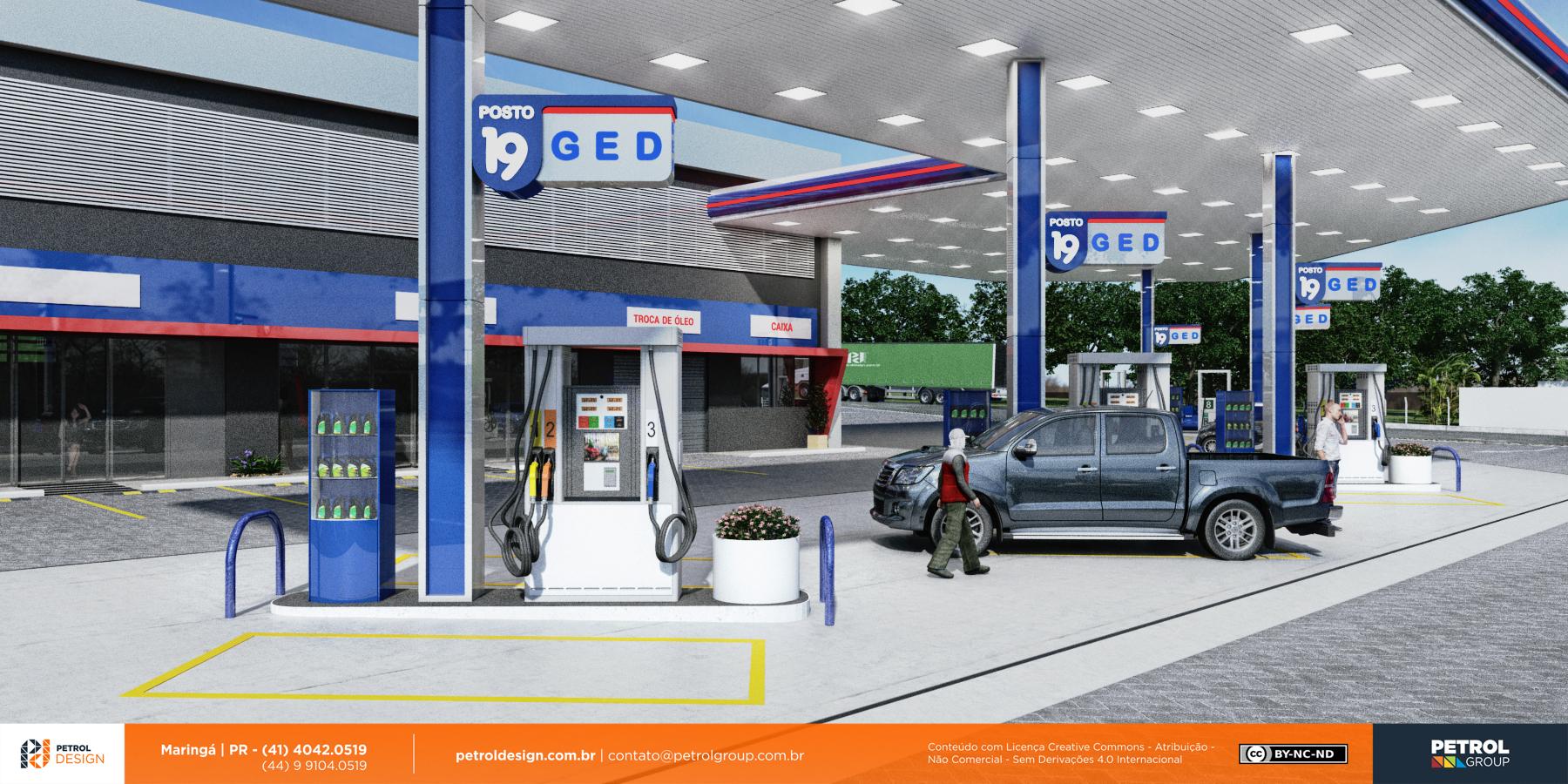 imagem comunicação visual posto de gasolina Mauá