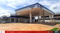 Fachada posto de gasolina Sarandi PR