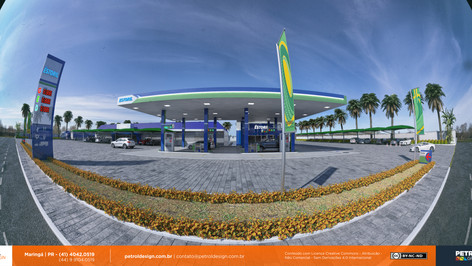 plantas 3d de um posto de combustivel Pedro Gomes MS