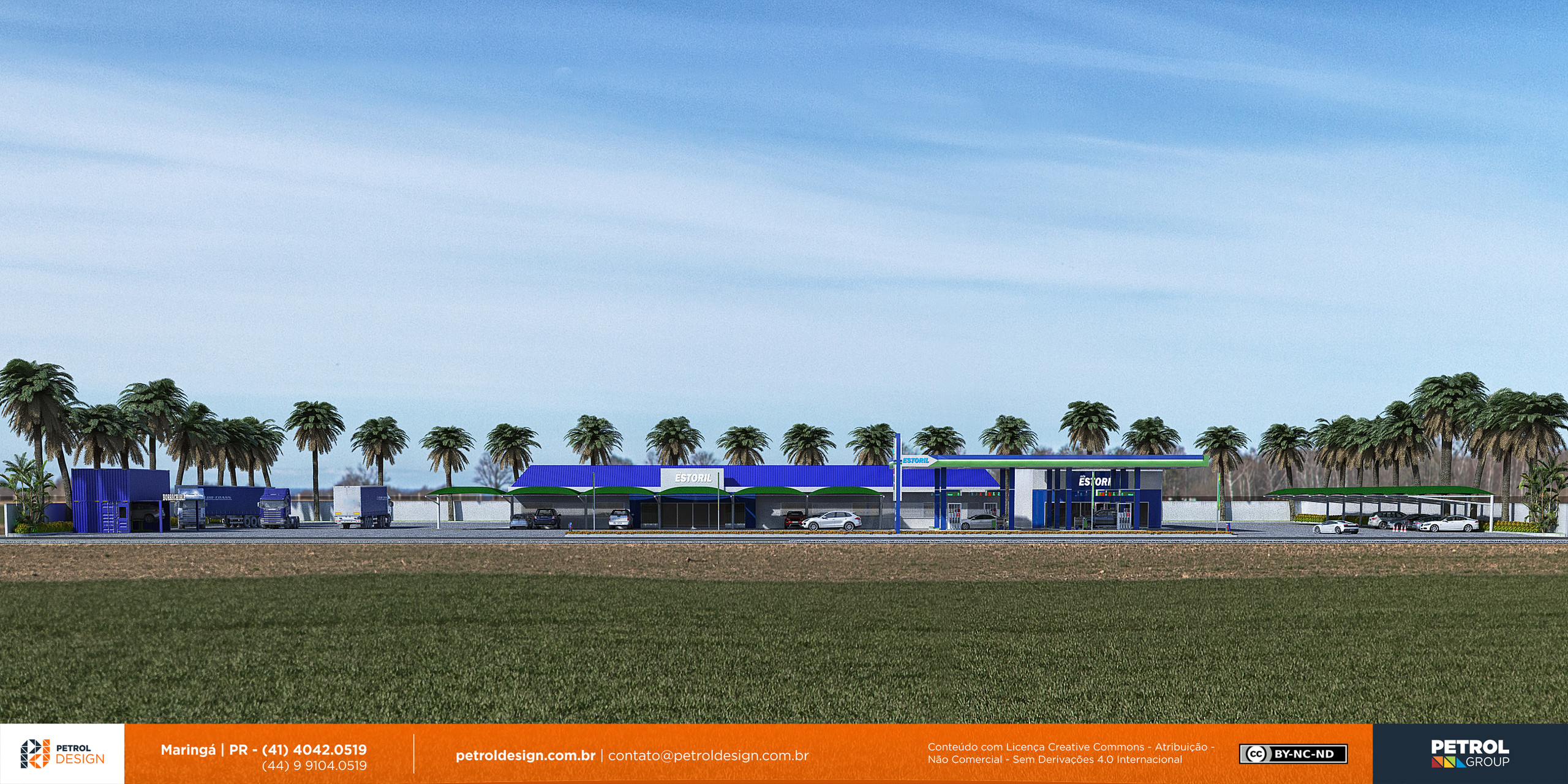 plantas 3d de um posto de combustivel Rio Verde de Mato Grosso MS