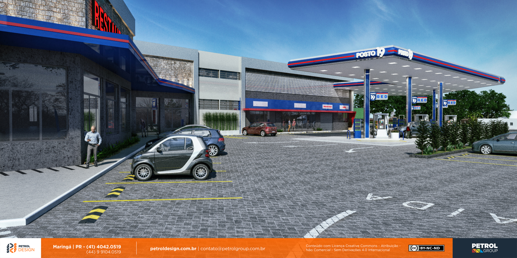 design comunicação visual posto de gasolina São José dos Campos