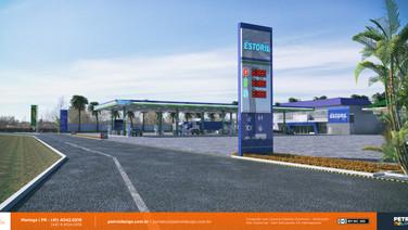 reforma de posto de gasolina Agua Clara MS