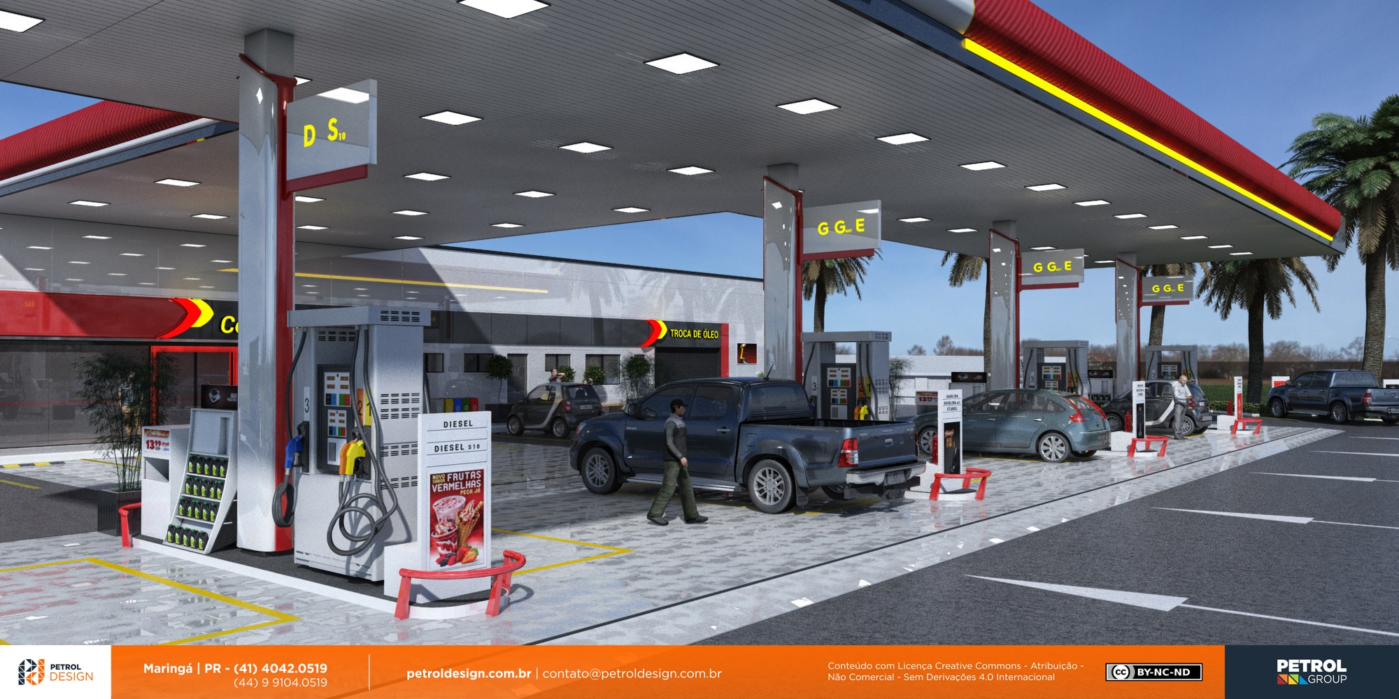 projeto comunicação visual posto de combustivel Ilheus BA