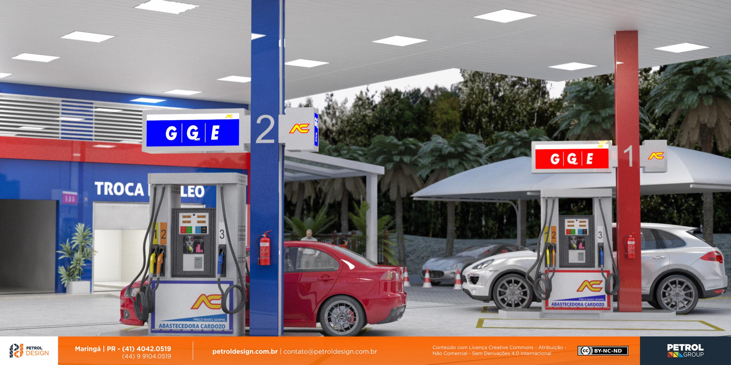 fachada comunicação visual posto de gasolina Rio Grande - RS