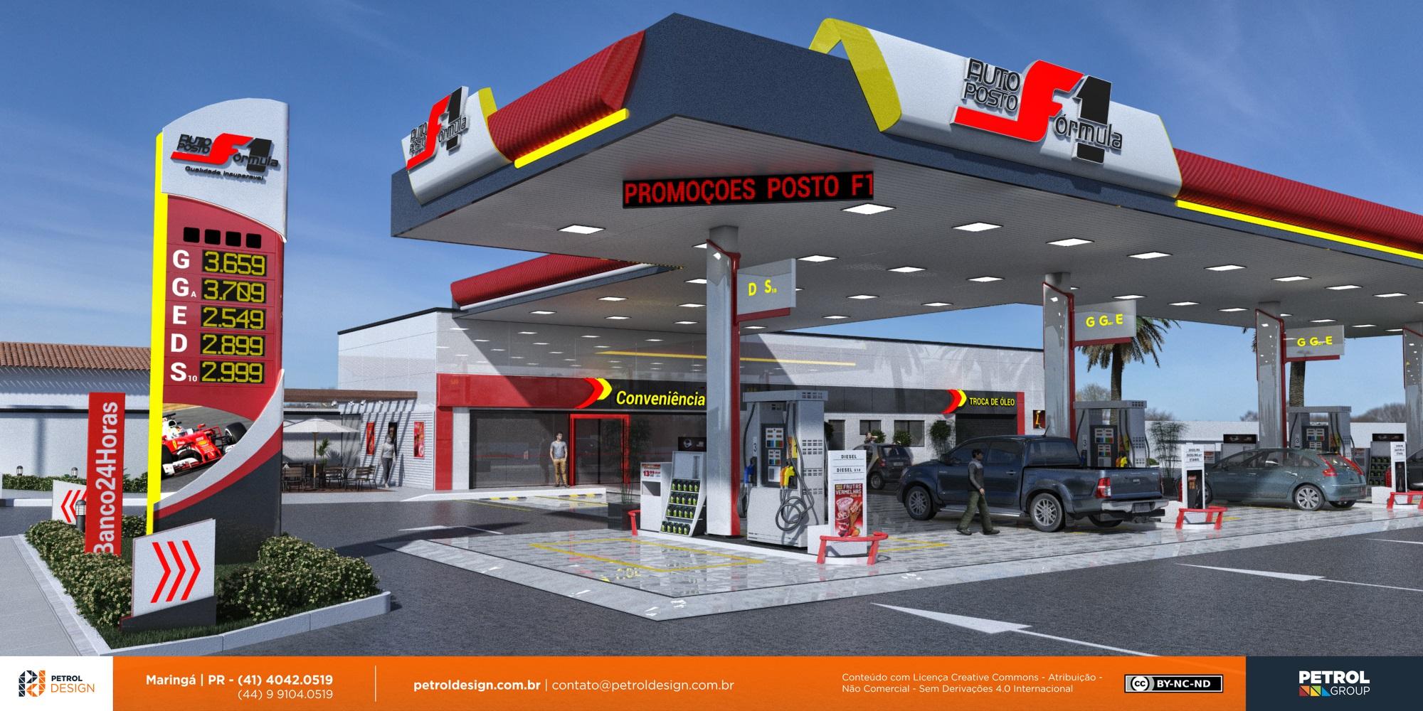 projeto visual posto de combustivel Teixeira de Freitas BA