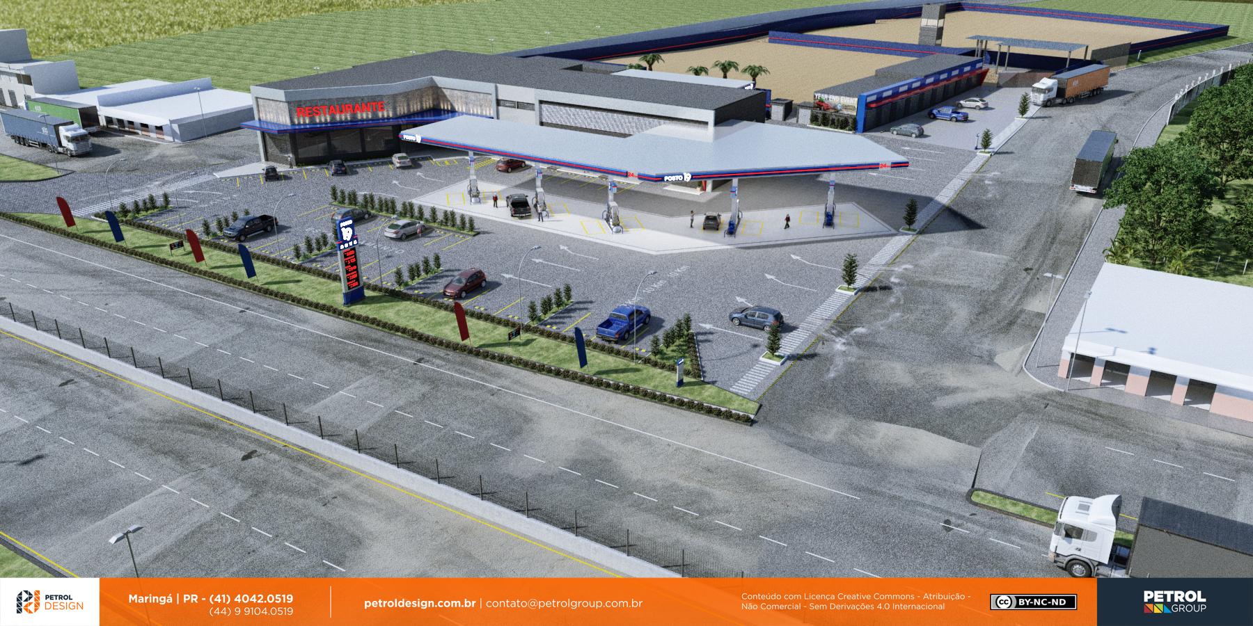 fachada comunicação visual posto de gasolina Ribeirão Preto