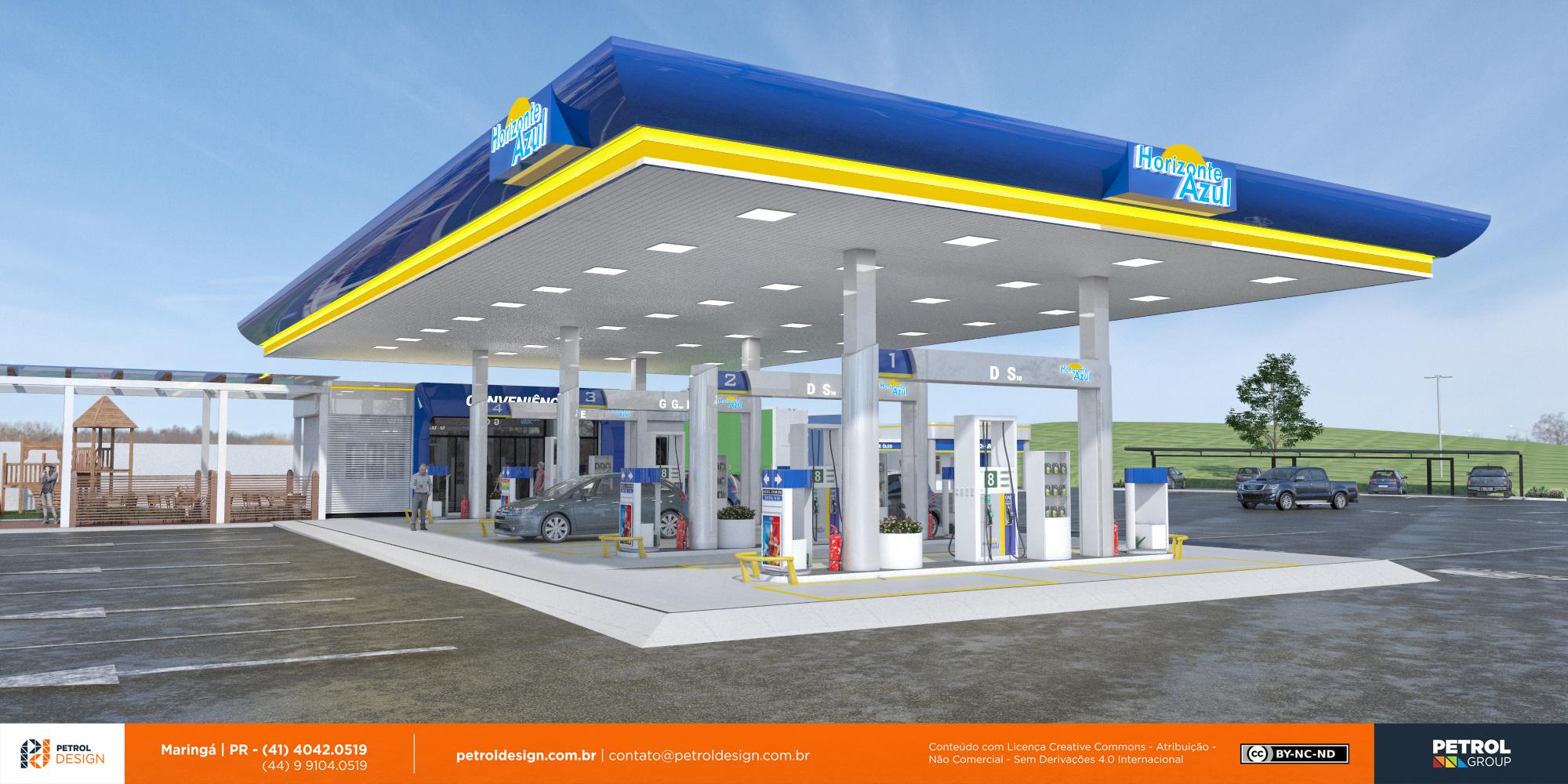 design de cobertura de posto de combustivel Sao Matheus ES