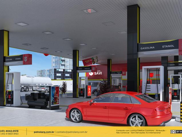 Arquitetura - Pista de abastecimento de posto de gasolina