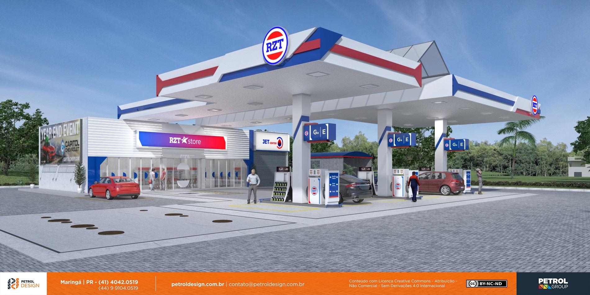 layout de posto de combustivel Pomerode - SC