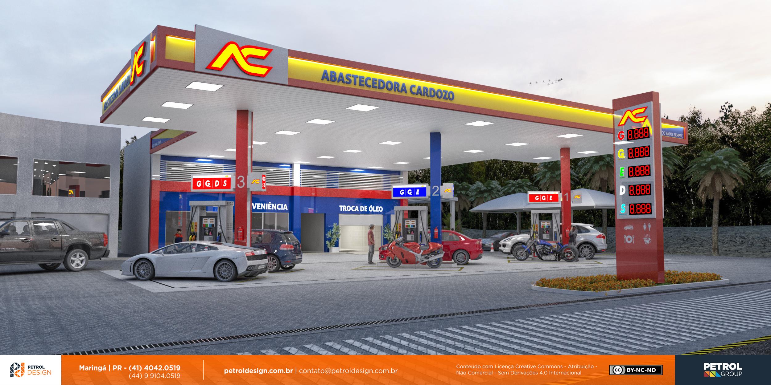 comunicação visual design posto de combustivel Santa Maria - RS