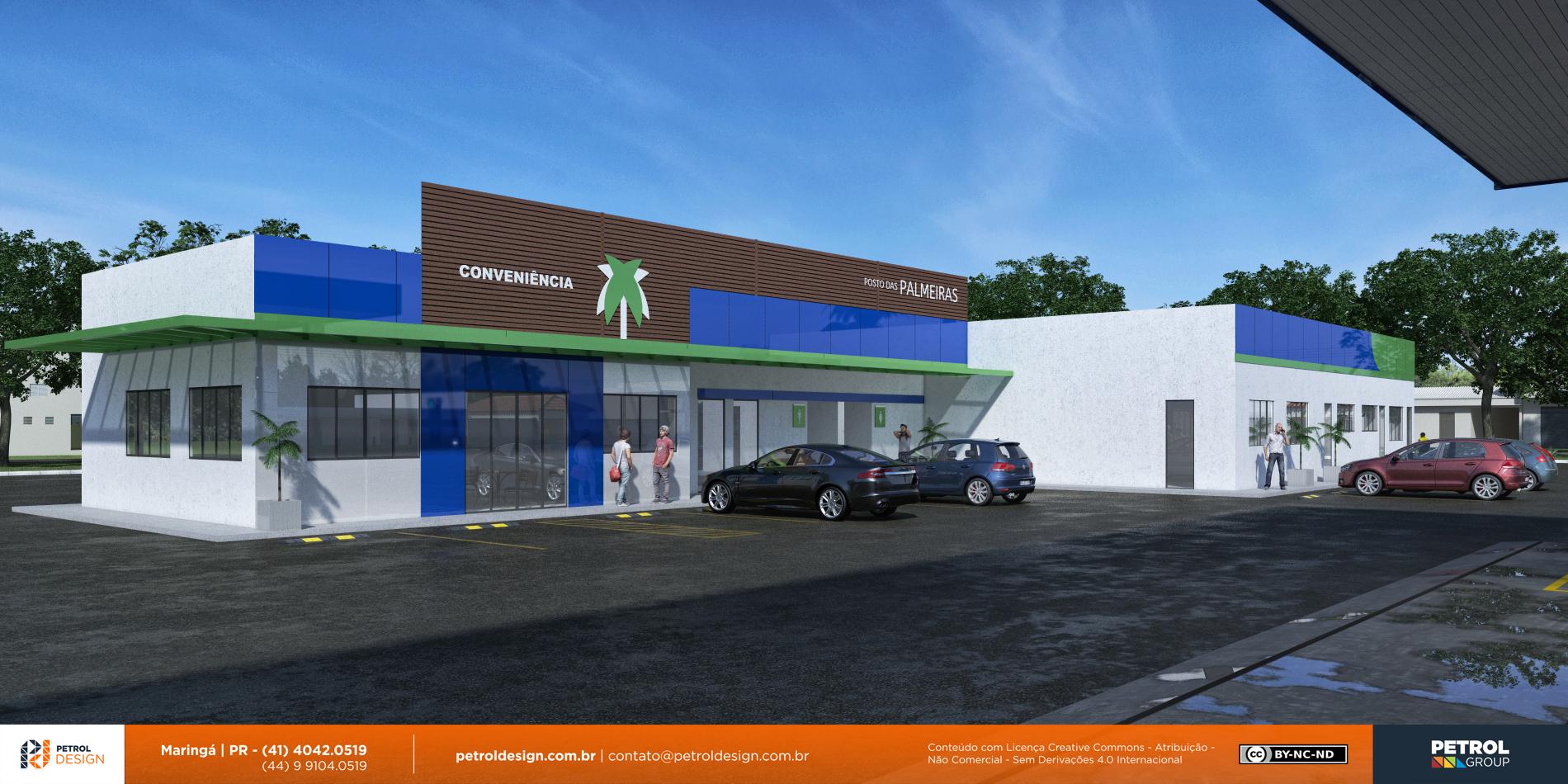 projeto de posto de gasolina Aparecida de Goiania GO