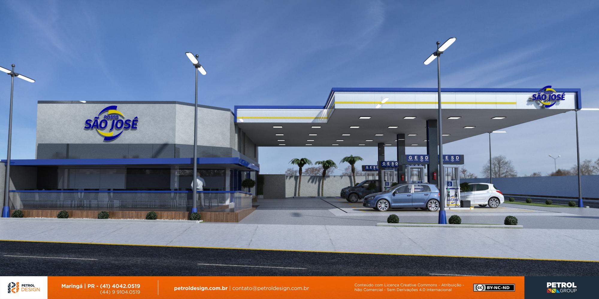 imagem posto gasolina Sao Gabriel RS