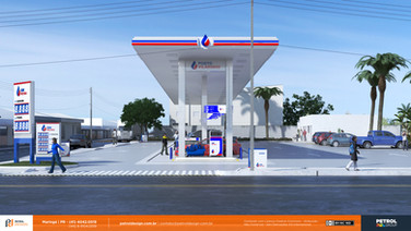 comunicação eidentidade visual posto de combustivel Belo Horizonte MG