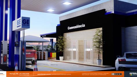 imagem comunicação visual posto de combustivel Apucarana PR
