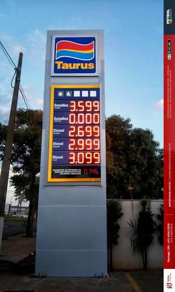 Totem para posto de gasolina