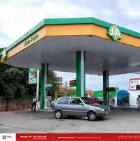 fachada de posto de gasolina Curitiba PR