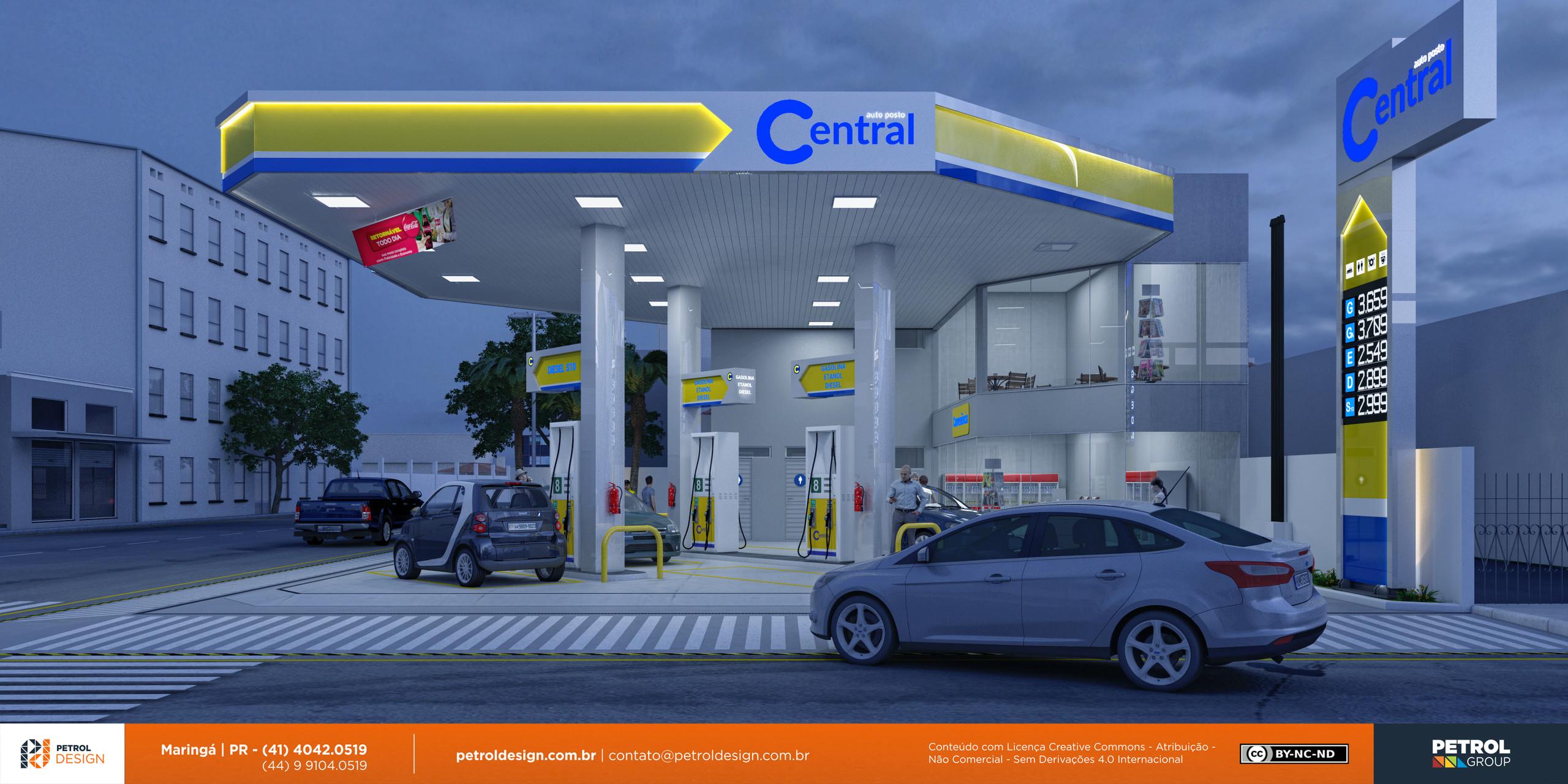 imagem de um posto de gasolina Pres Prudente SP