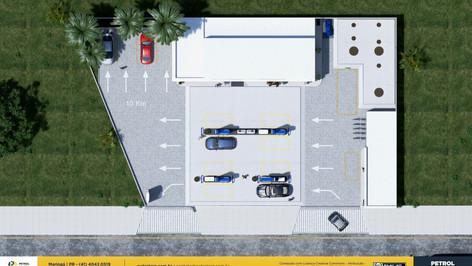 layout de posto de gasolina Recife PE