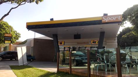 imagem de posto de gasolina bandeira branca São Gonçalo RJ