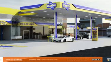 logo marcas 3d posto de combustivel Congonhas SP