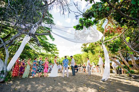 Lantana and Jason Olowalu Wedding
