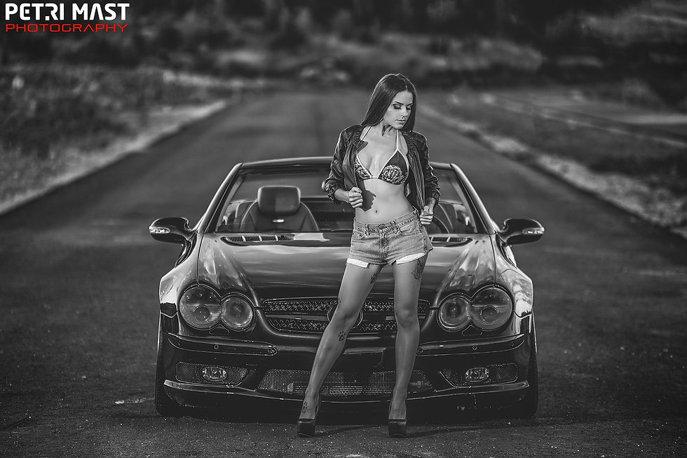 scandinavian rock car babe model