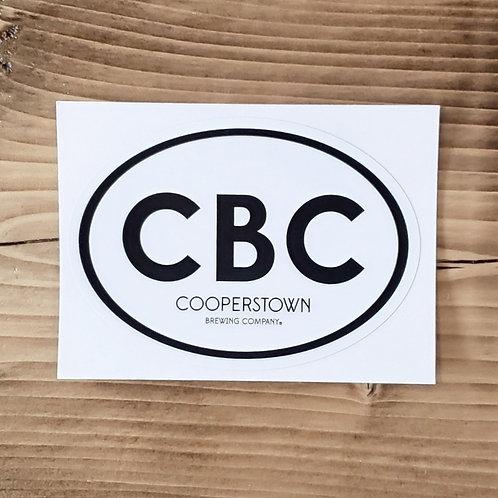 CBC Oval Sticker