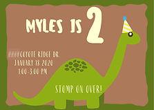Dino Birthday Invite