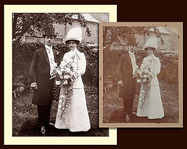 A before & after example of a photgraph restoration - Portraits by Hart