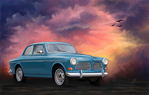 A digital oil painting of a car © Portraits by Hart