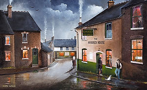 Oil Painting of Hundred House Pub - Ken Wood, Artist