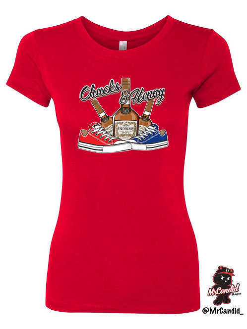 Women's Limited Edition Chucks and Henny Tshirt