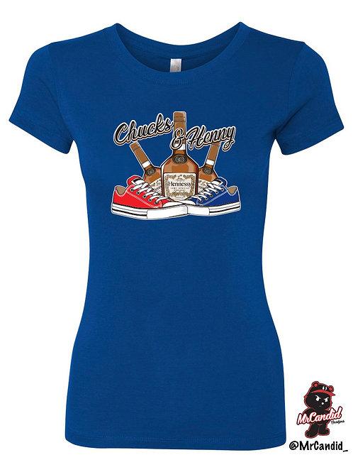 Women's Limited Edition Chucks and Henny Tshirt
