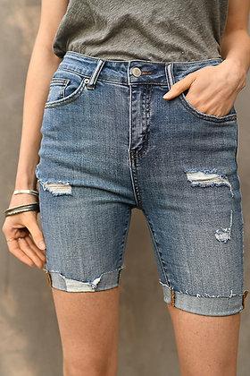 Risen Distressed Denim Shorts