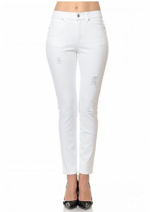 WAX White Distressed Jeans