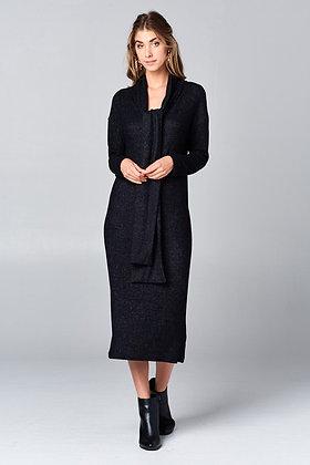 Valentina Midi Dress, Black