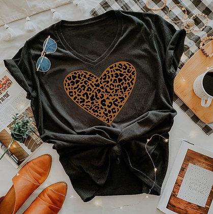 Leopard Heart Tee