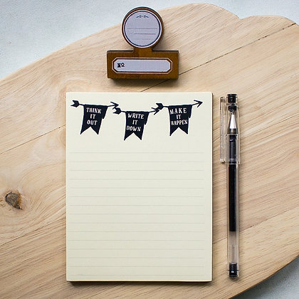 Think, Write, Make Notepad