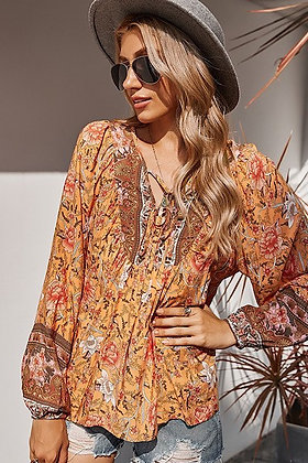 Sunset Floral Blouse
