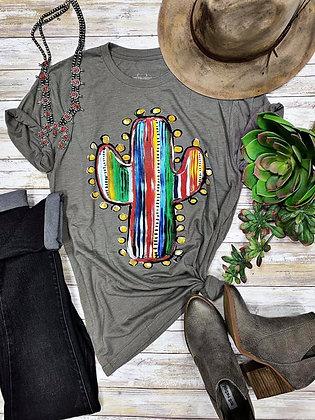 Serape Cactus Tee