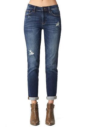 Judy Blue Distressed Slim Jeans