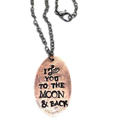 Love You To The Moon Lucky Penny Necklace