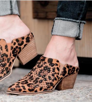 Corkys Leopard Mules