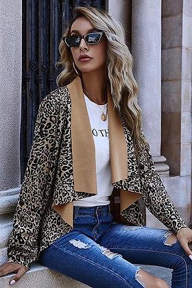 Leopard Lapel Jacket