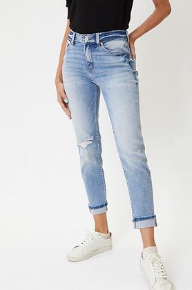 KanCan High Rise Cuff Jeans