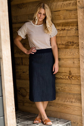 Denim Classic Midi Skirt