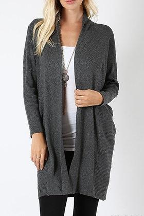 Charcoal Cardi Sweater