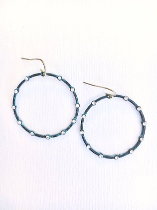 Turquoise Wash Hoop Earrings