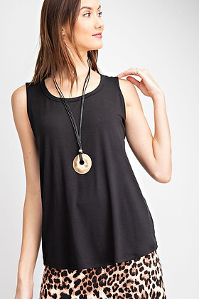 Soft Tank Top, Black